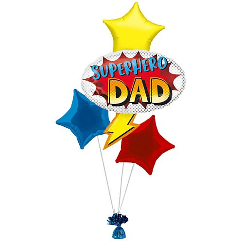 Superhero Dad Balloon Bouquet