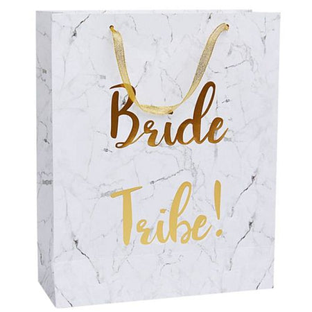Bride Tribe Marble and Gold Foil Gift Bag