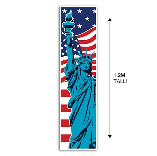 American Flag and Statue of Liberty Portrait Wall Banner Decoration - 1.2m