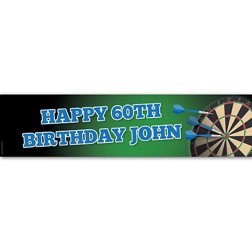 Darts Party Personalised Banner - 1.2m
