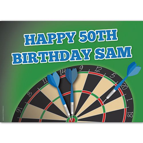 Darts Party Personalised Poster - A3