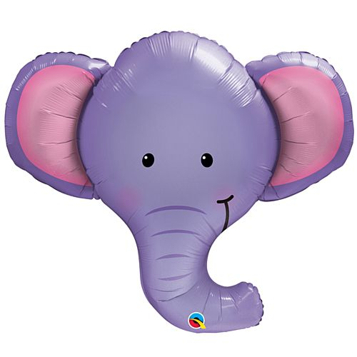 Ellie the Elephant Face Foil Balloon - 39""