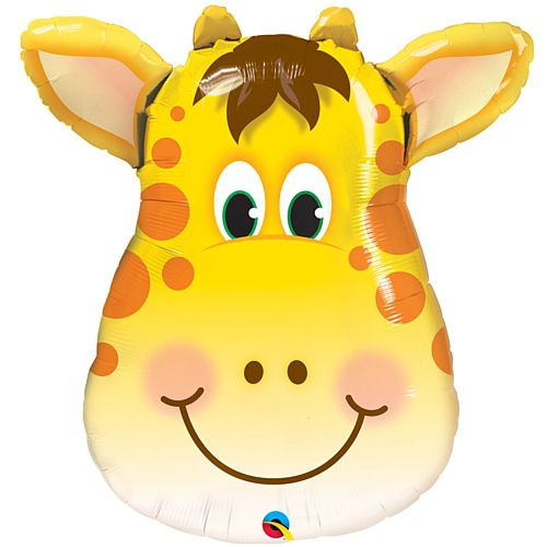 Jolly Giraffe Face Foil Balloon - 32""
