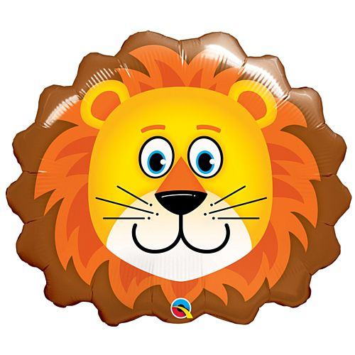 Lovely Lion Face Foil Balloon - 29""