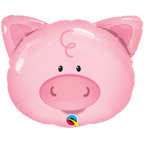 Playful Pig Face Foil Balloon - 30""