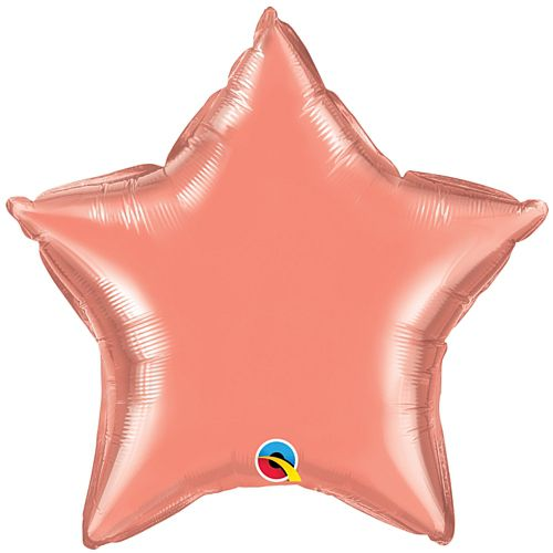 Coral Peach Star Shaped Foil Balloon - 20""