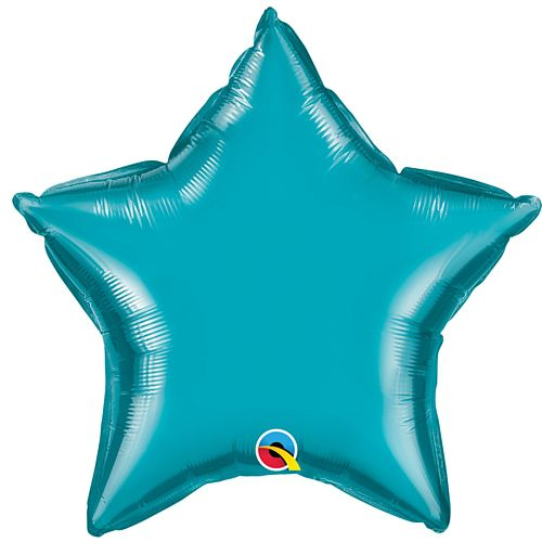 Turquoise Blue Star Shaped Foil Balloon - 20""
