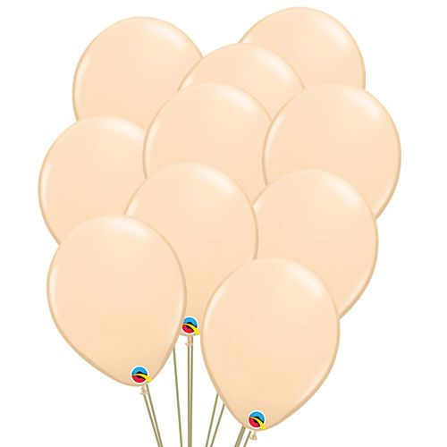 "Blush Peach Latex Balloons - 11"" - Pack of 10"
