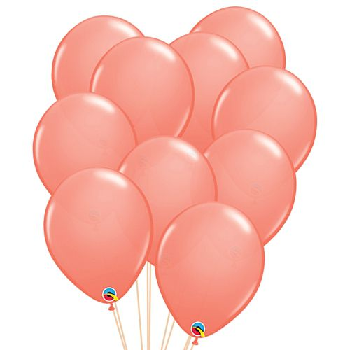"Coral Peach Latex Balloons - 11"" - Pack of 10"