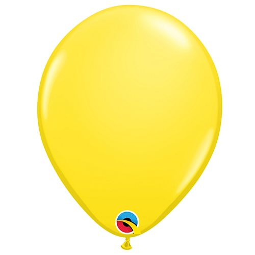 "Yellow Plain Colour Mini Latex Balloons - 5"" - Pack of 10"