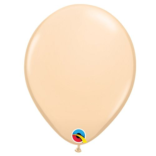 "Blush Peach Plain Colour Mini Latex Balloons - 5"" - Pack of 10"
