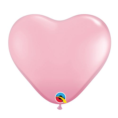 "Pink Heart Mini Shape Latex Balloons - 6"" - Pack of 10"