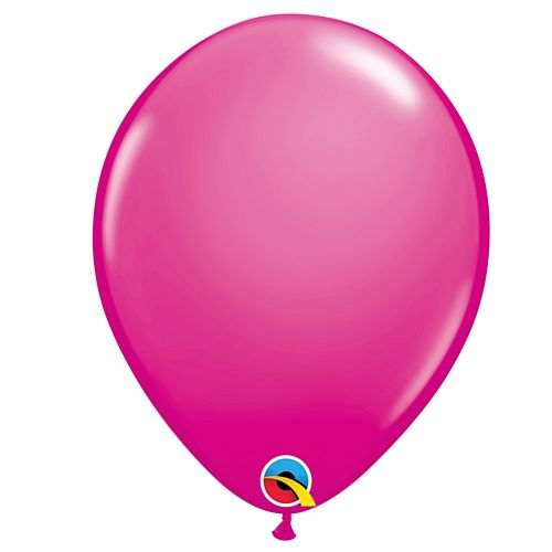"Wild Berry Hot Pink Plain Colour Mini Latex Balloons - 5"" - Pack of 10"