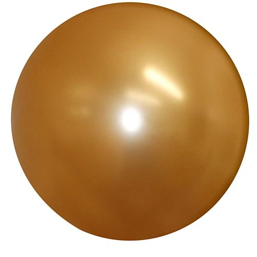 "Metallic Gold Giant Round Latex Balloons - 24"" - Pack of 10"
