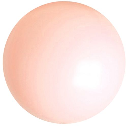 "Peach Pink Giant Round Latex Balloons - 24"" - Pack of 10"
