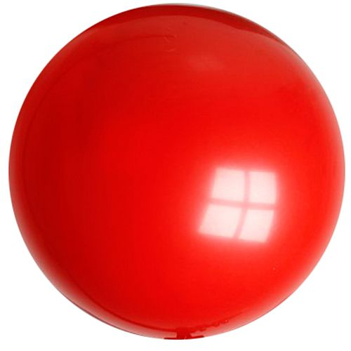 "Red Giant Round Latex Balloons - 24"" - Pack of 10"