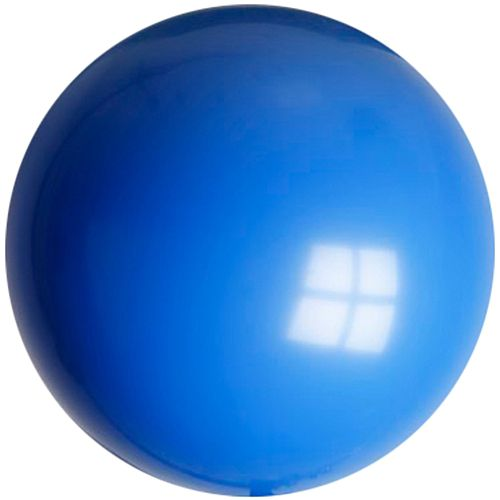 "Royal Blue Giant Round Latex Balloons - 24"" - Pack of 10"