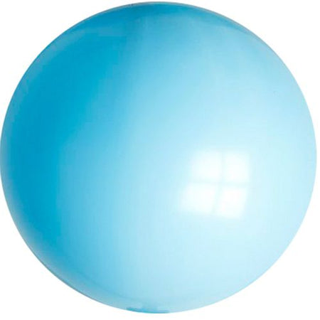 Sky Blue Giant Round Latex Balloons - 24
