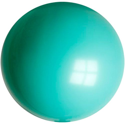 "Turquoise Blue Giant Round Latex Balloon - 24"" - Pack of 10"