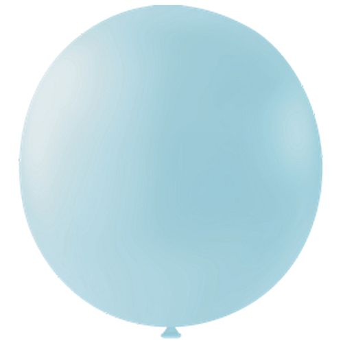 "Pastel Blue Giant Round Latex Balloons - 24"" - Pack of 10"
