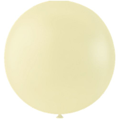 "Pastel Ivory Giant Round Latex Balloons - 24"" - Pack of 10"
