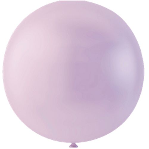"Pastel Lavender Giant Round Latex Balloons - 24"" - Pack of 10"