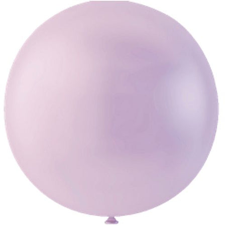 Pastel Lavender Giant Round Latex Balloons - 24