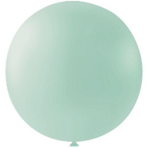 "Pastel Mint Green Giant Round Latex Balloons - 24"" - Pack of 10"