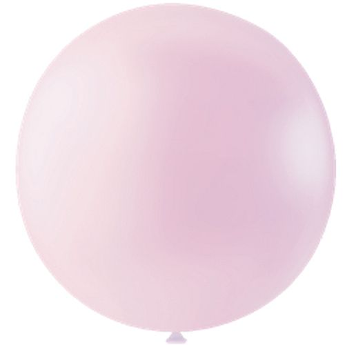 "Pastel Pink Giant Round Latex Balloon - 24"" - Pack of 10"