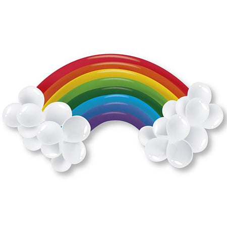 Rainbow Latex Balloon Kit - 30 Balloons- 1m