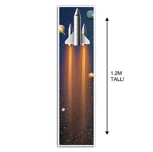 Space Rocket Ship Portrait Wall Banner Decoration - 1.2m