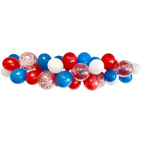 Red, White and Blue Balloon Cluster Cloud Kit - 36 Balloons - 2.5m