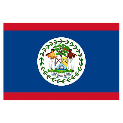 Belize Polyester Fabric Flag - 5ft x 3ft