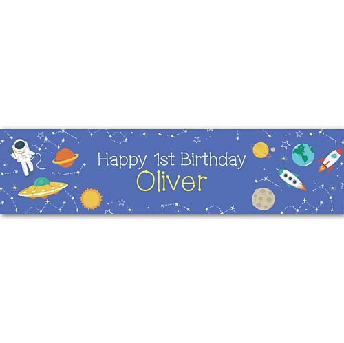 Outer Space Personalised Banner - 1.2m