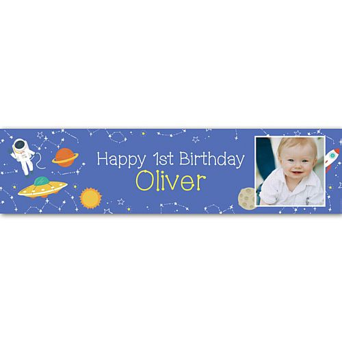 Outer Space Personalised Photo Banner - 1.2m