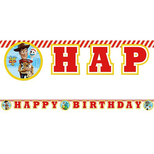 Toy Story 4 'Happy Birthday' Letter Banner - 2m