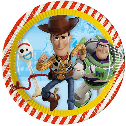 Toy Story 4 Paper Plates - 23cm - Pack of 8