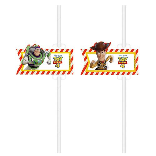 Toy Story 4 Paper Straws - Pack of 4