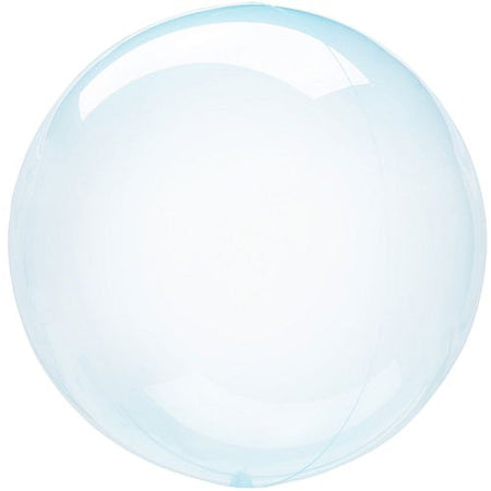 Clear Blue Bubble Round Balloon 18