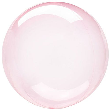 Clear Pink Bubble Round Balloon 18
