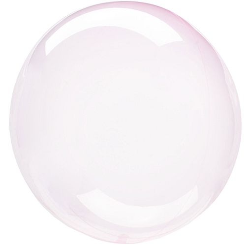 Clear Light Pink Bubble Round Balloon - 18""