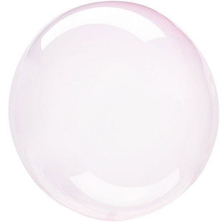 Clear Light Pink Bubble Round Balloon - 18