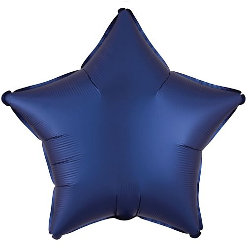 Navy Satin Foil Star Balloon - 18""