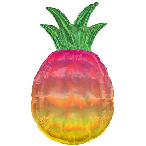 Iridescent Pineapple Supershape Foil Balloon - 31""