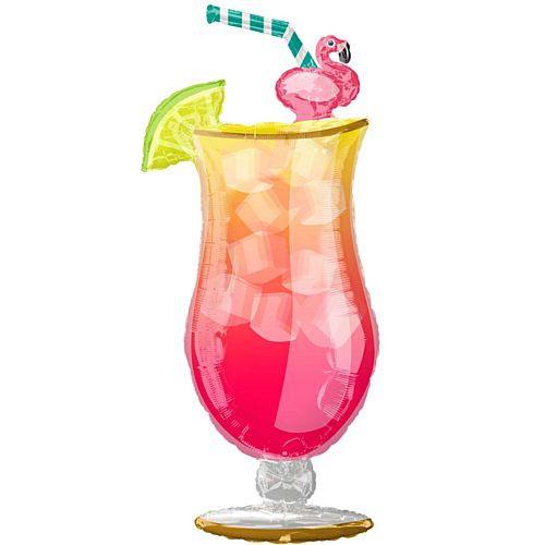 Tropical Drink Supershape Foil Balloon - 41""