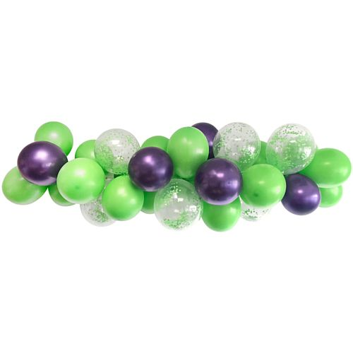 Purple and Green Balloon Arch DIY Kit - 24 Balloons - 2.5m