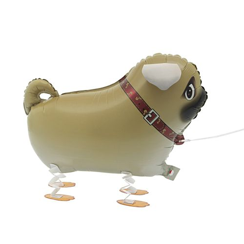 Pug Walking Balloon - 22""
