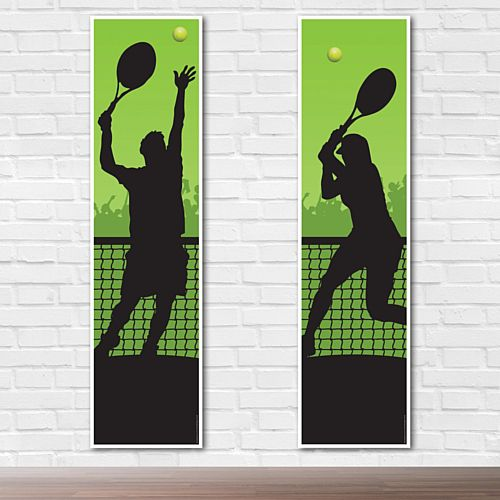 Men's and Women's Tennis Portrait Wall Banner Decoration - 1.2m - Pack of 2