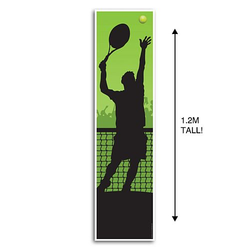 Men's Tennis Portrait Wall Banner Decoration - 1.2m
