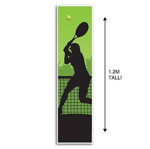 Women's Tennis Portrait Wall Banner Decoration - 1.2m